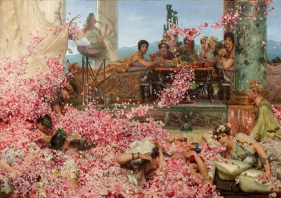 Alma-Tadema, Sir Lawrence: The Roses of Heliogabalus. Fine Art Print/Poster. Sizes: A4/A3/A2/A1 (003812)